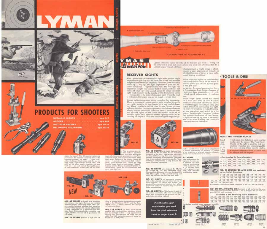 Lyman 1959 Sights and Reloading Catalog