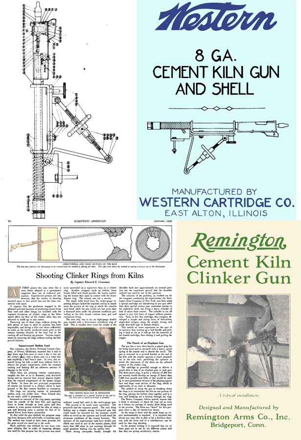 Cement Kiln Guns c1920s-30s