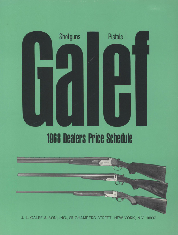 Galef 1968 Gun Catalog, New York- Zoli & Beretta Flyer