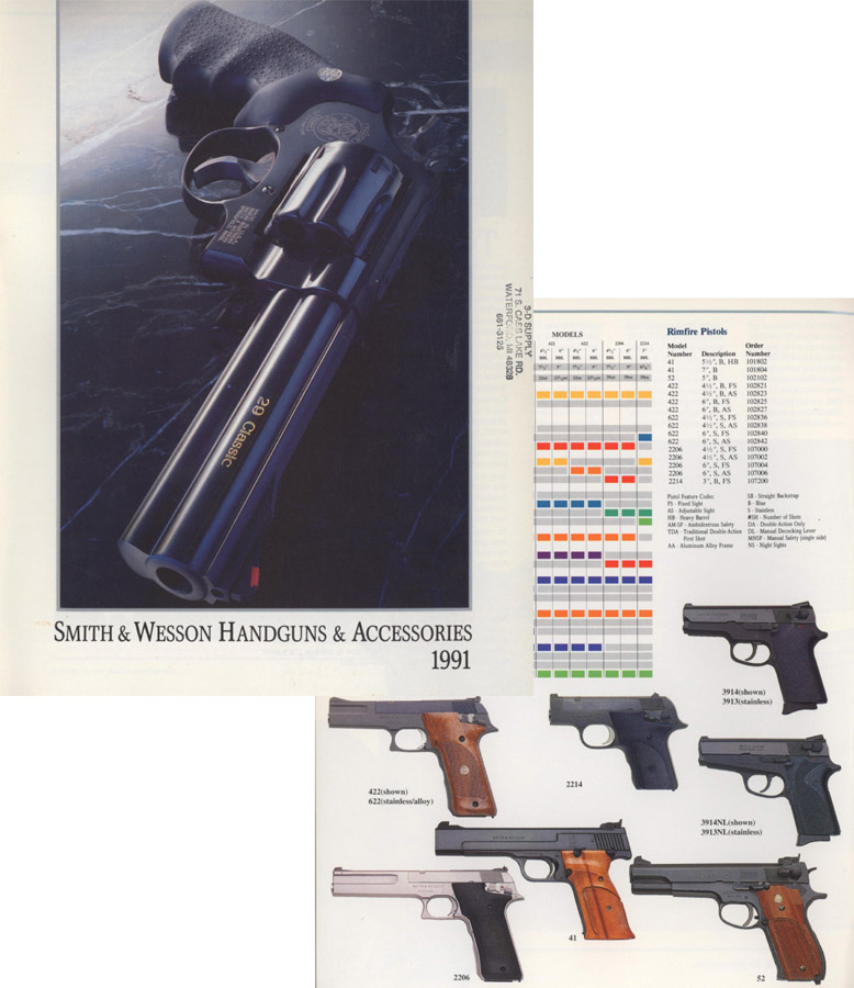 Smith & Wesson 1991 Gun Catalog