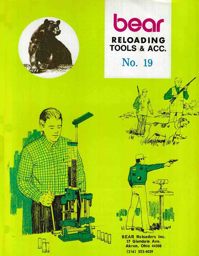 Bear c1972 Reloading Catalog