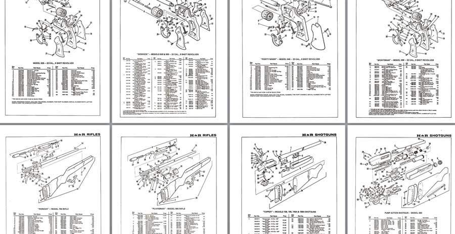 Harrington & Richardson  Schematic Drawings