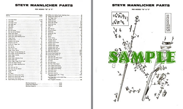 Steyr Mannlicher Schematic Drawing