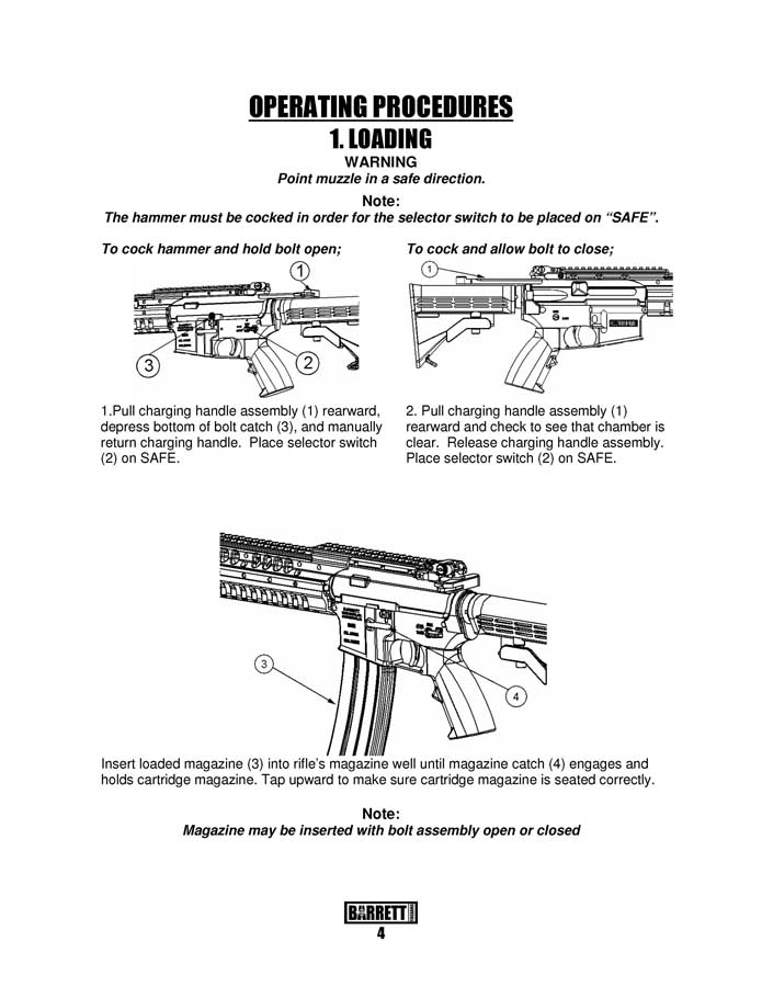 Barrett M468 Operator's Manual