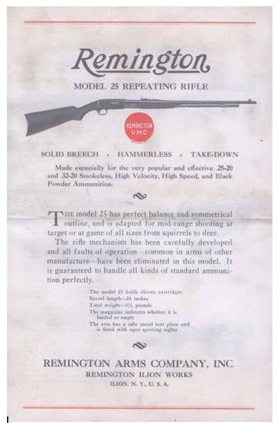 Remington Model 25 Manual