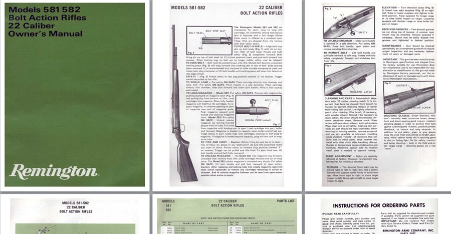 Remington Model 581-582 - Owner's Manual