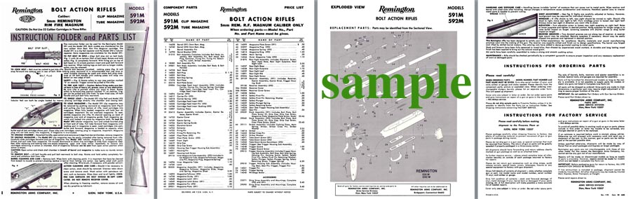 Remington Model 591M 592M- Instruction Manual