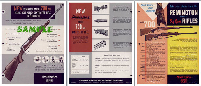 Remington Model 700 ADL- c1964 Introduction Flyer