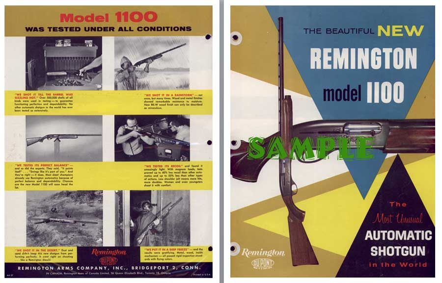 Remington Model 1100 1963 Announcement Flyer