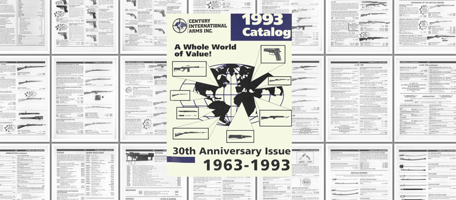 Century Arms International 1993 30th Anniversary Issue Gun Catalog