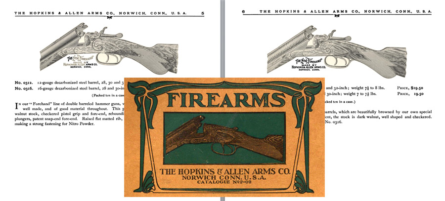 Hopkins & Allen c1902 Firearms No. 2 Catalog
