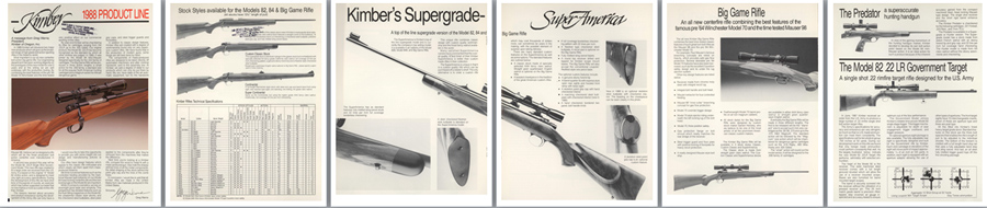 Kimber 1988 Rifle Product Line Flyer