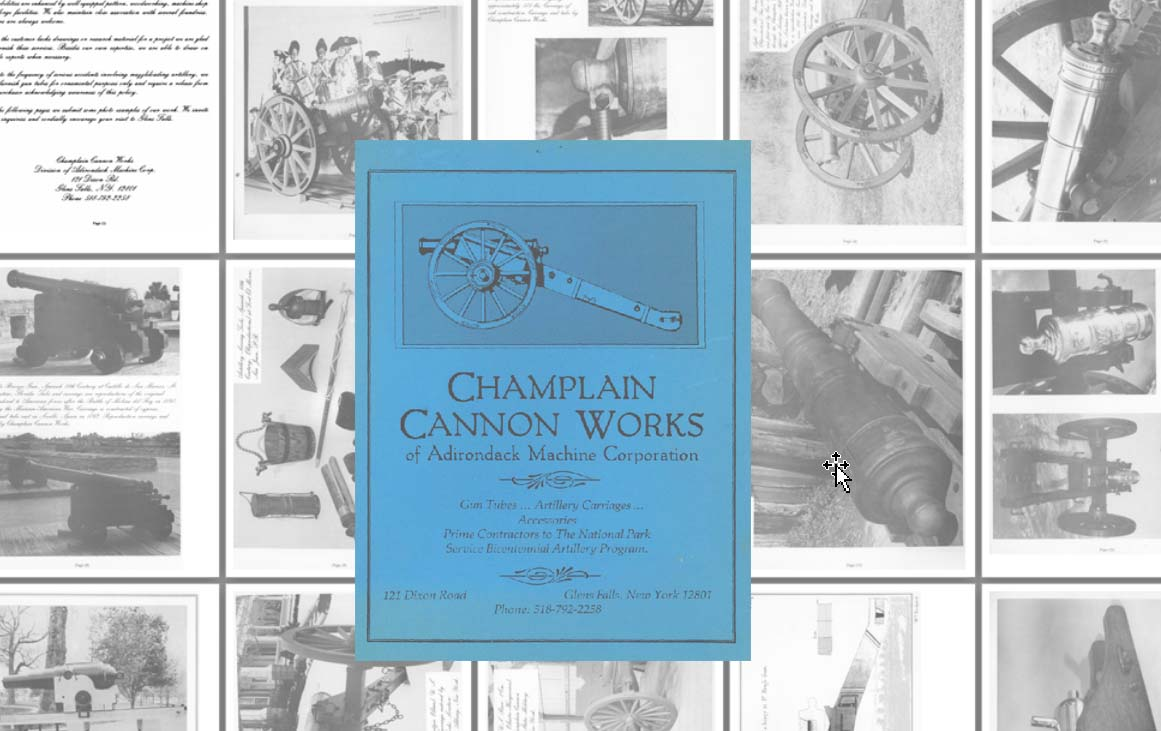 Champlain Cannon Works of Adirondack Machine Corp c1970 Catalog