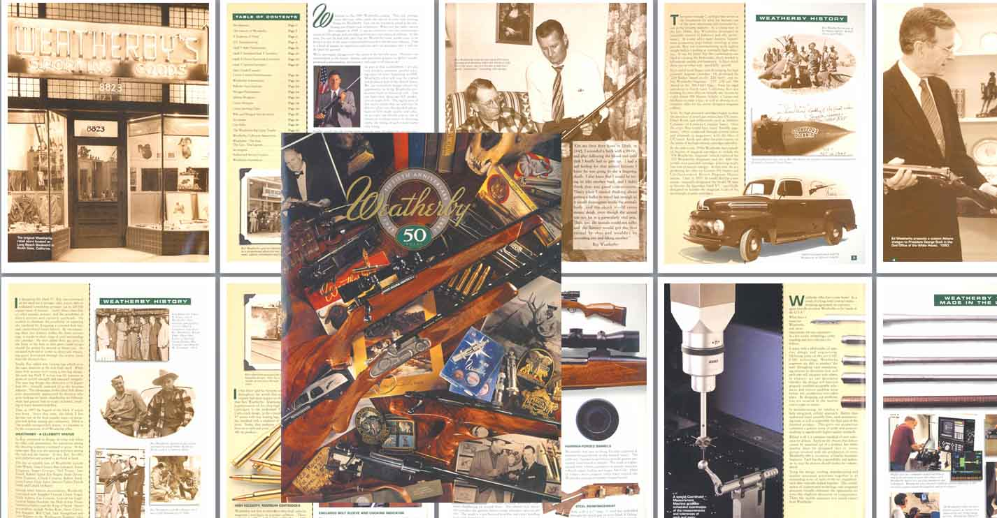 Weatherby 1995 50th Anniversary Gun Catalog