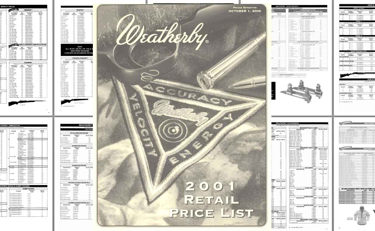 Weatherby 2000 Price List