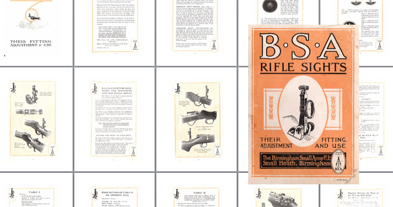 BSA 1916 Rifle Sights- Fitting and Adjustment