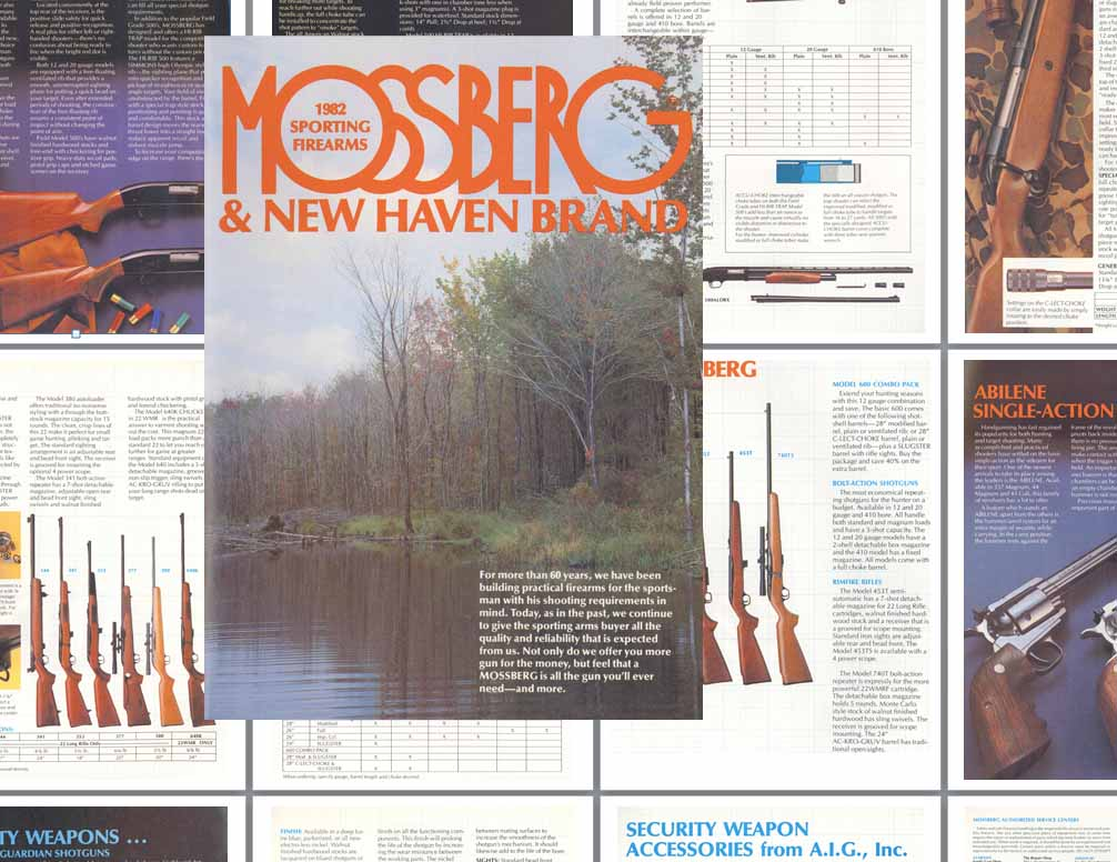 Mossberg 1982 & New Haven Brand Firearms Gun Catalog