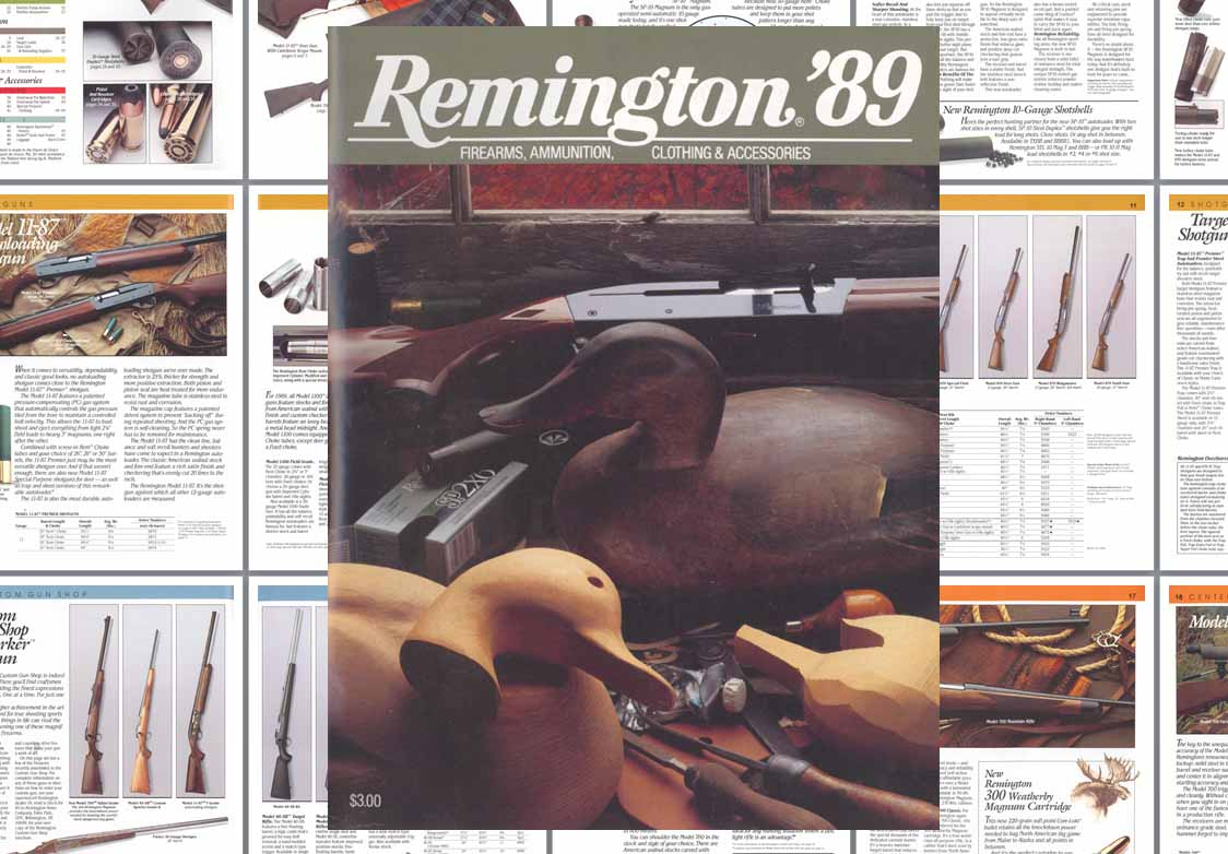 Remington 1989 Firearms Catalog