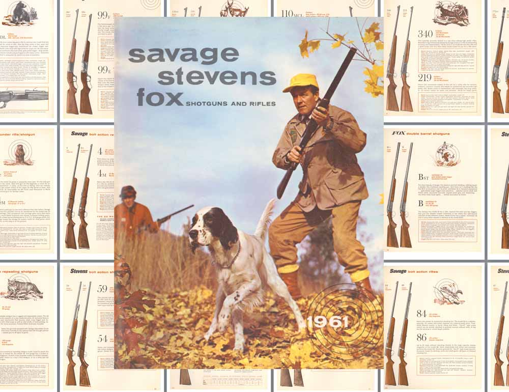 Savage 1961 Stevens, Fox Rifles & Shotguns Catalog
