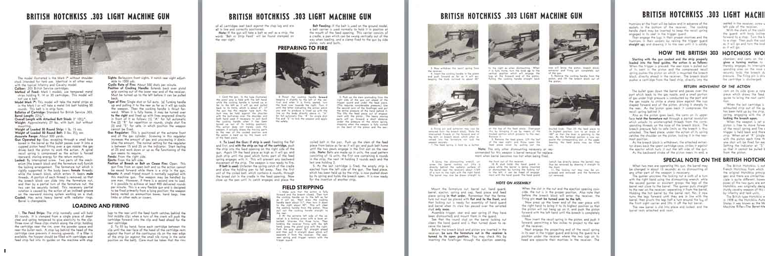 Hotchkiss (British) .303 Light Machine Gun Manual