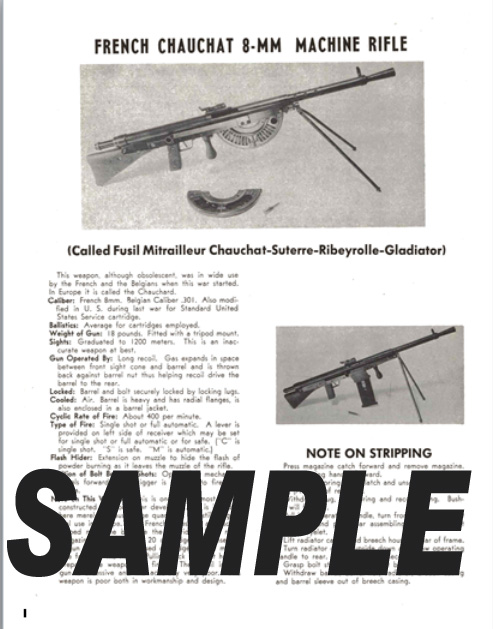Chauchat (French) 8mm Machine Rifle Field Stripping