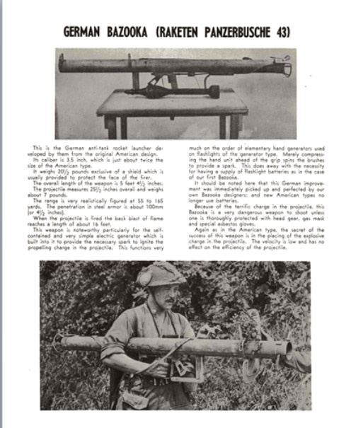 German Bazooka (Raketen Panzerbusche 43) Description