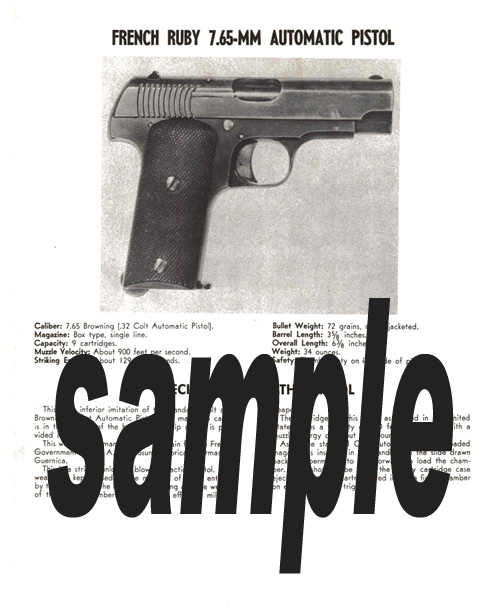 Ruby (French) 7.65mm Automatic Pistol Manual