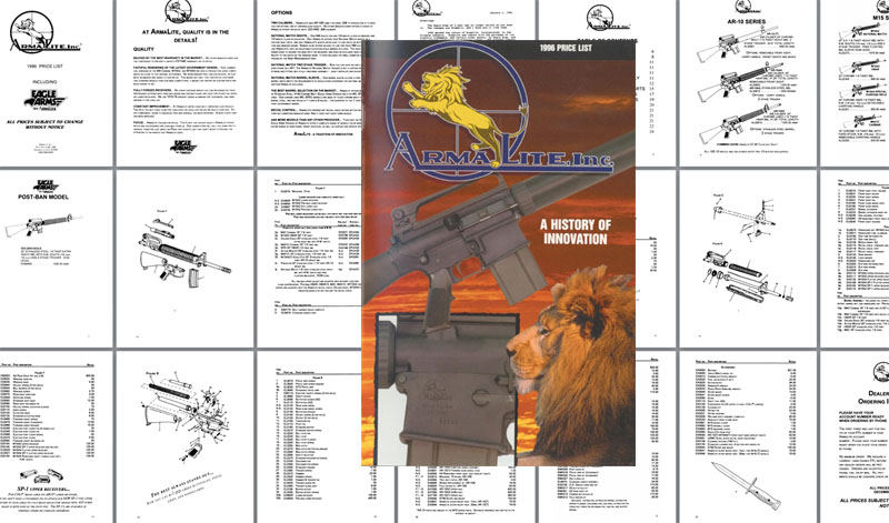 Armalite 1996 Gun Catalog & Exploded Parts Views