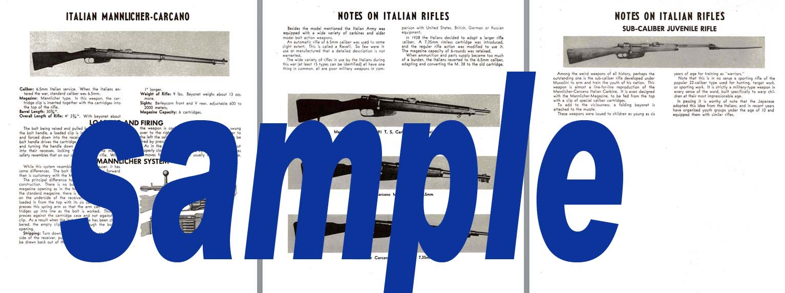 Mannlicher-Carcano Rifle & Notes on Italian Rifles