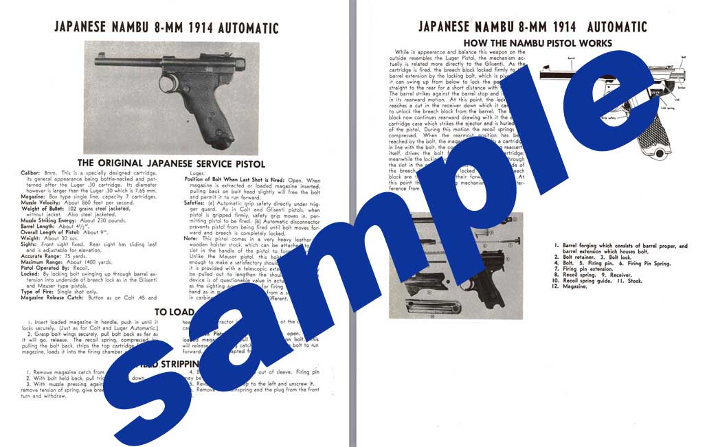 Nambu 8mm 1914 Japanese Automatic Pistol
