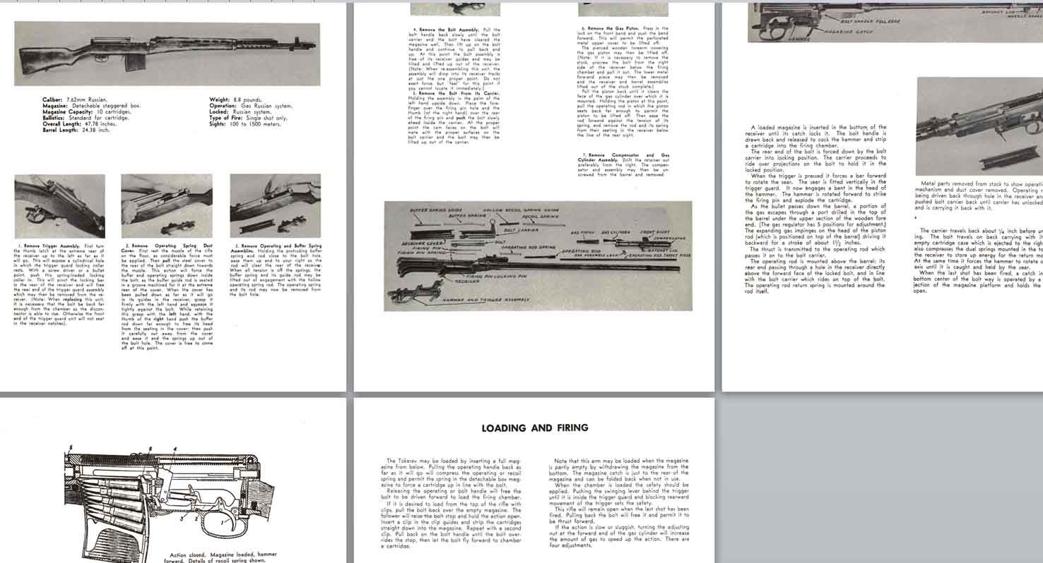 Tokarev 40 Russian Semi-Automatic Rifle Manual