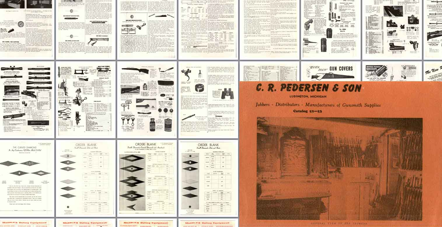 Pedersen 1952-1953 Gunsmith Supplies