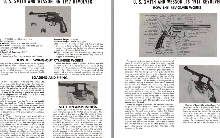 Smith & Wesson U.S. M1917 .45 Revolver Manual-Cutaway