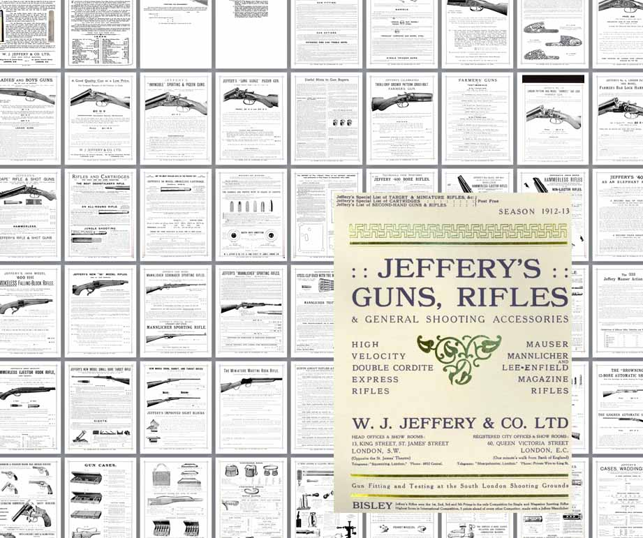 Jeffery's 1912-13 Guns, Rifles & Accessories