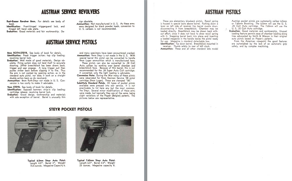 Austrian WWII Service Revolvers Description and Identification
