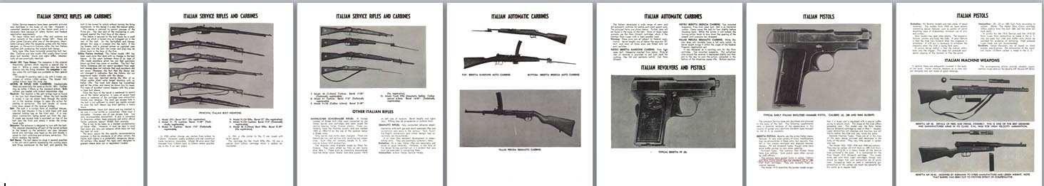Italian WWII Service Rifles, Pistols & MGs Description & Identification