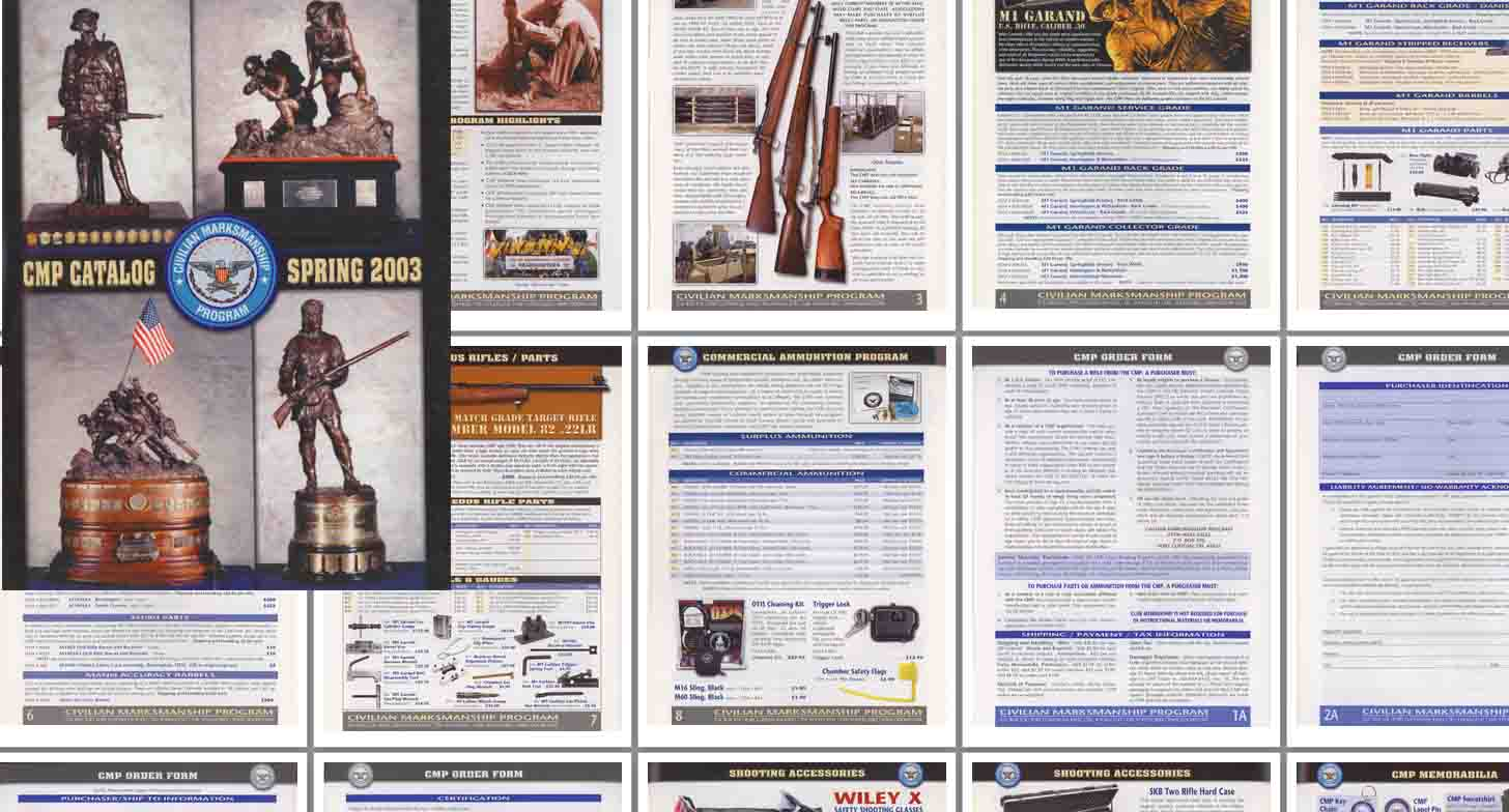 Civilian Marksmanship Program 2003 Catalog