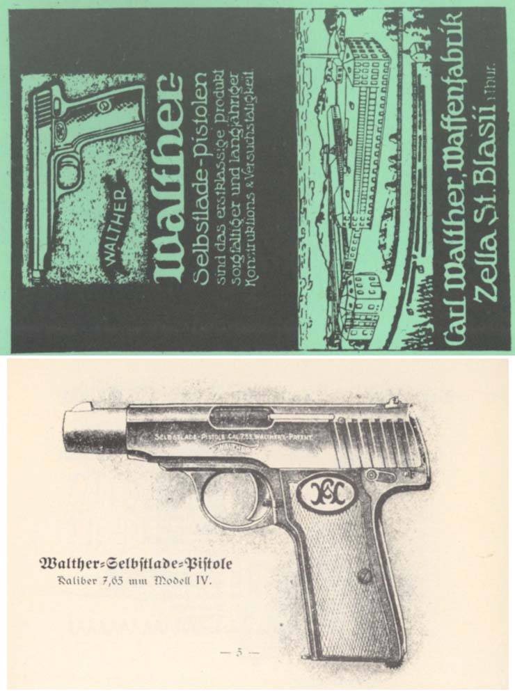 Walther Models #4, 5, 6, 7 Pistol Manual (in German)