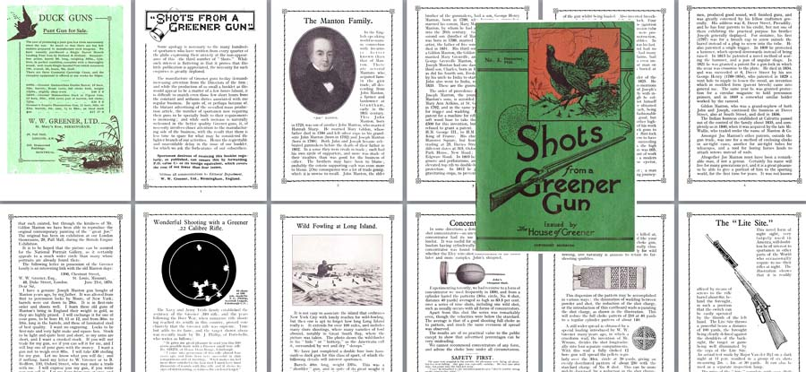 WW Greener 1925 Shots from a Greener Gun No. 3