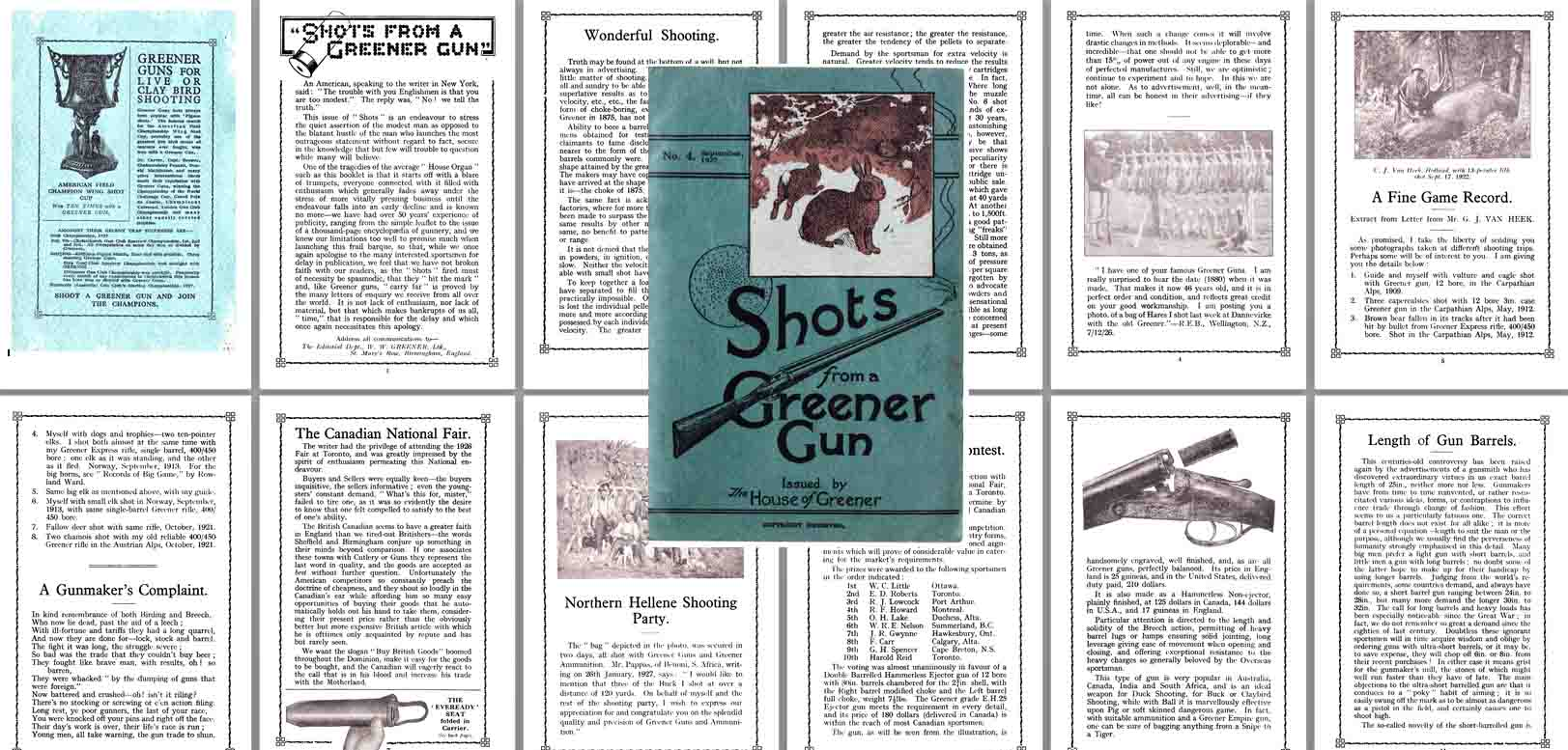 WW Greener 1927 Shots from a Greener Gun No. 2