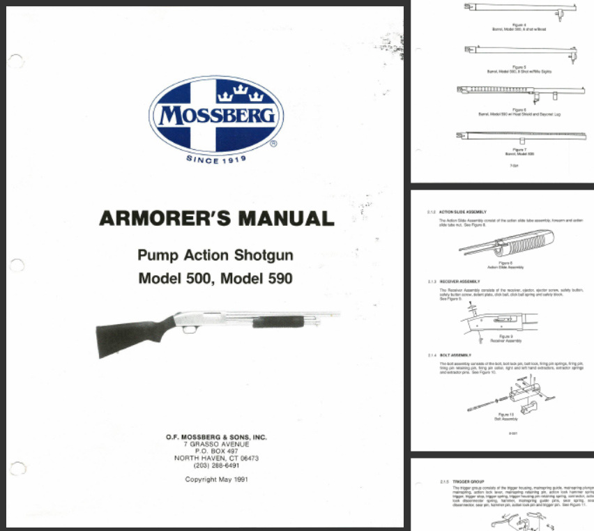Mossberg 500 Armourer's Manual (1991)