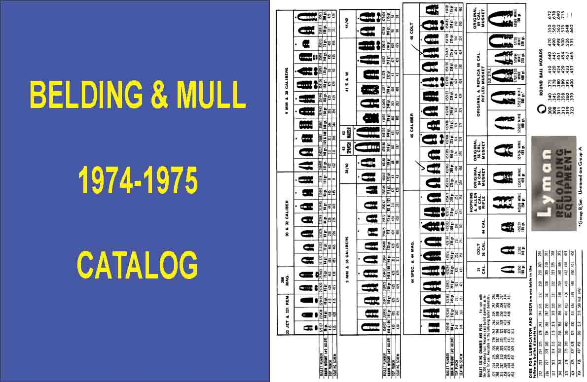 Belding & Mull 1974-1975 Gun, Reloading and Accessory Catalog