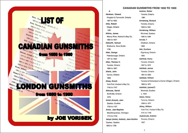 Canadian Gunsmiths 1650-1900 & London Gunsmiths 1850-1900