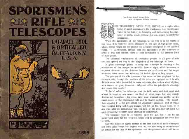 Cataract Rifle Telescope c1899 Catalog