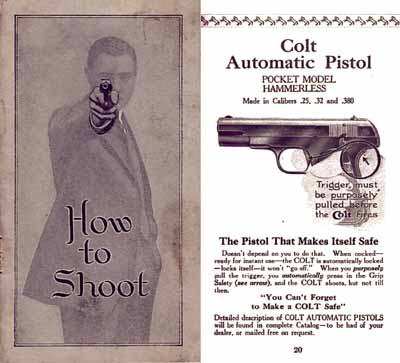 Colt c1914 Gun Catalog and Manual