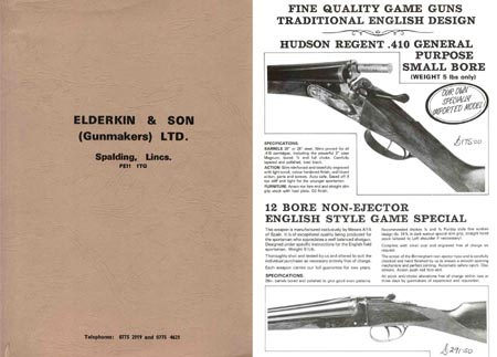 Elderkin (Lincolnshire, UK) 1985 Gun Catalog