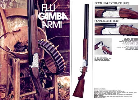 F lli Gamba 1974 Gun Catalog
