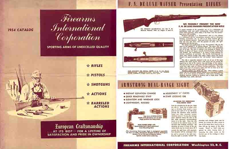 Firearms International 1954 Gun Catalog