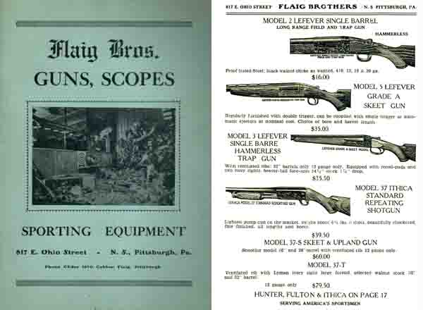 Flaig Bros c1937 Gun Catalog (Pittsburgh, PA)