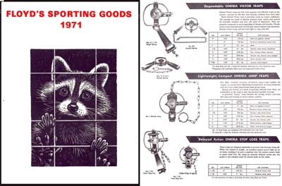 Floyd's Sporting Goods (Trapping) 1971 Catalog
